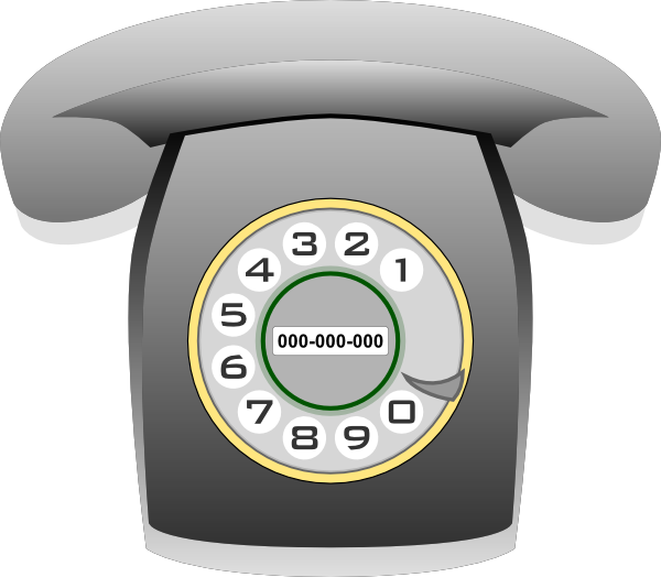 Gray rotary clip art. Phone clipart corded phone