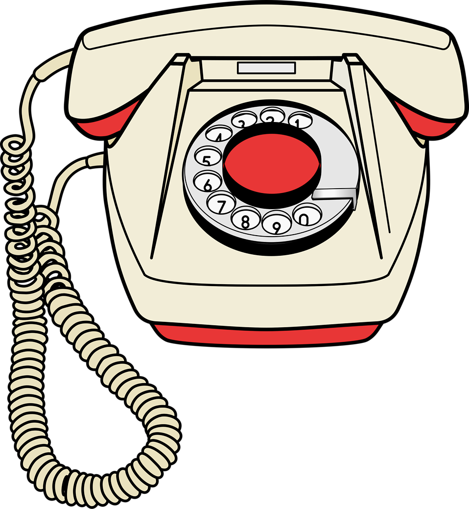 Telephone clipart red telephone. Free stock photo illustration