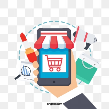 Mobile png vector psd. Clipart phone shopping