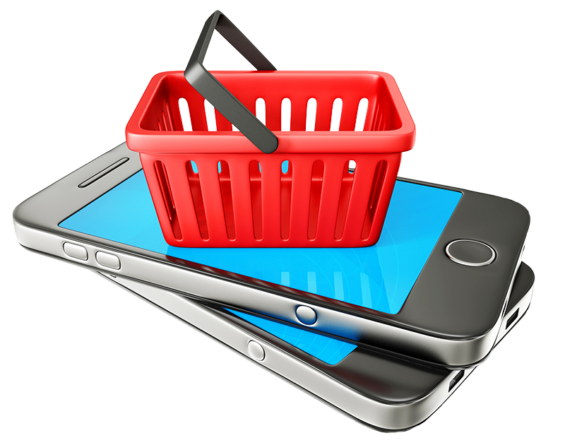 collection of online. Phone clipart shopping
