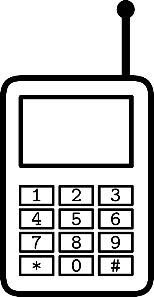 Phone clipart simple. Cellphone i royalty free