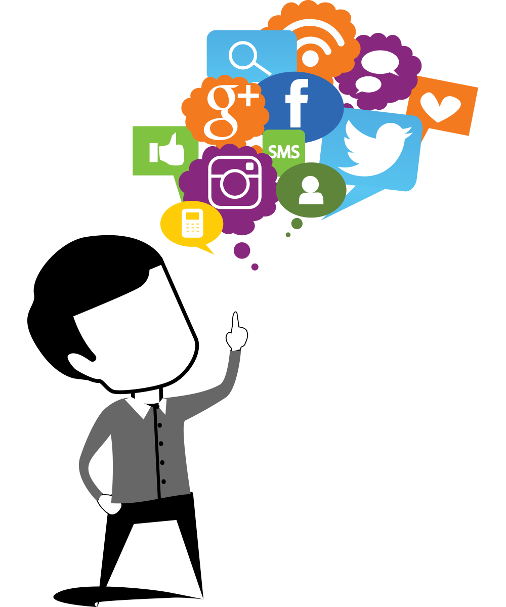 Social media softroniics socialmediamarketing. Manager clipart marketing manager