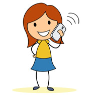 talking on the. Clipart telephone talkin