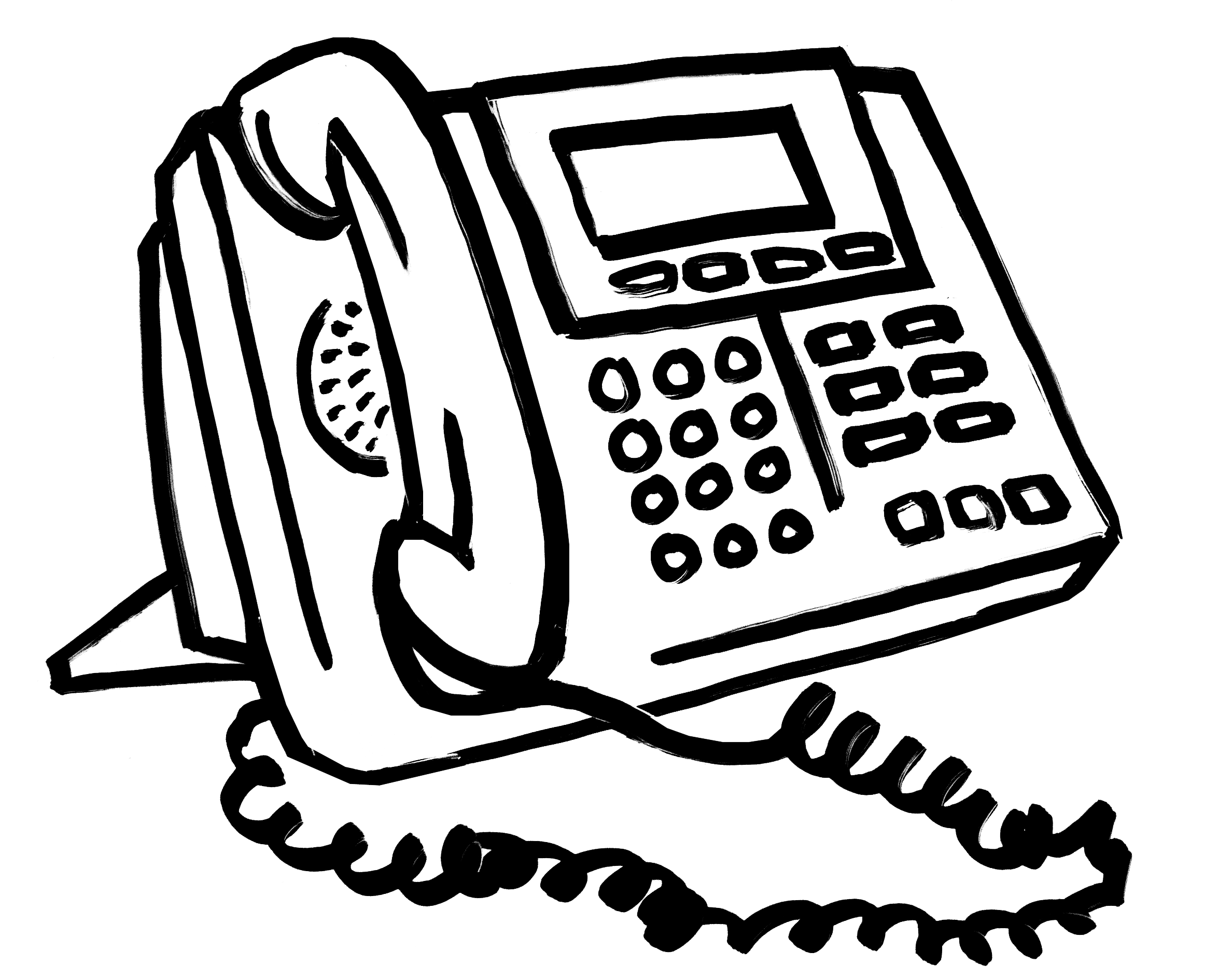 telephone clipart office phone