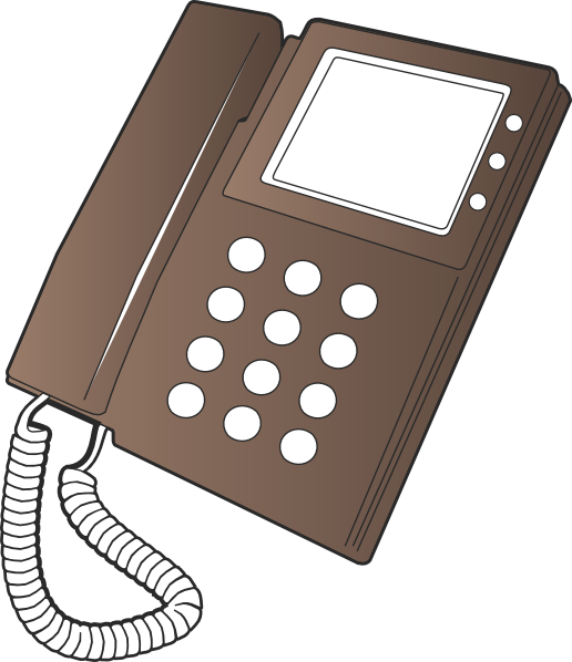 Phone clipart corded phone. Telephone clip art at