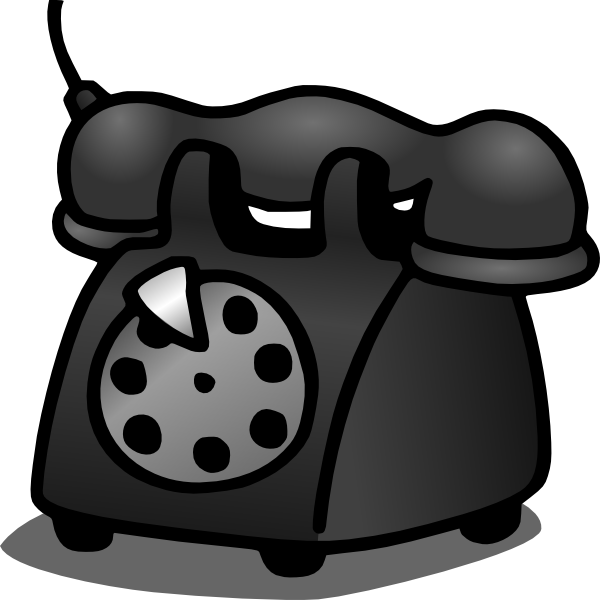 Old clip art at. Telephone clipart office phone