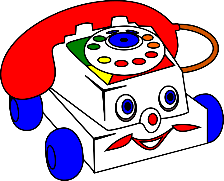 Telephone clipart toy phone. Panda free images