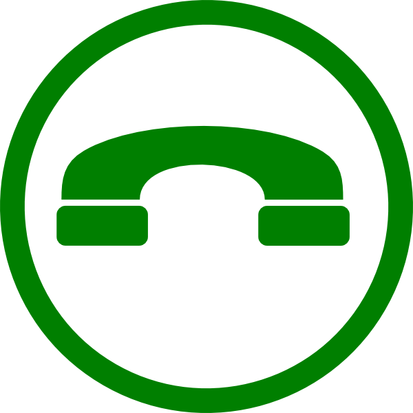 Green Phone Clip Art at Clker