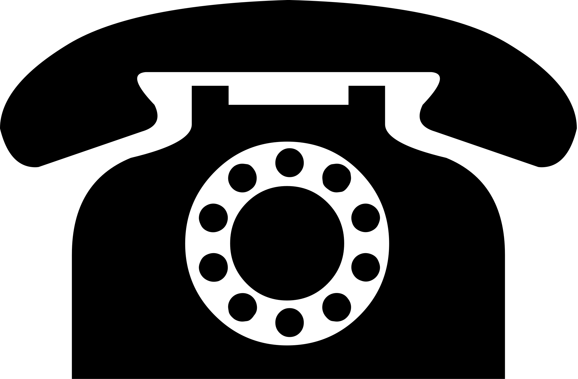 Vintage Black Phone Icon transparent PNG