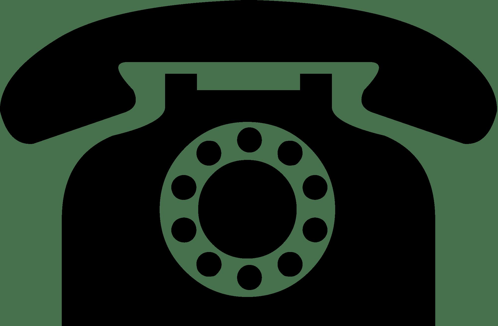 Phone png icon. Vintage black transparent stickpng