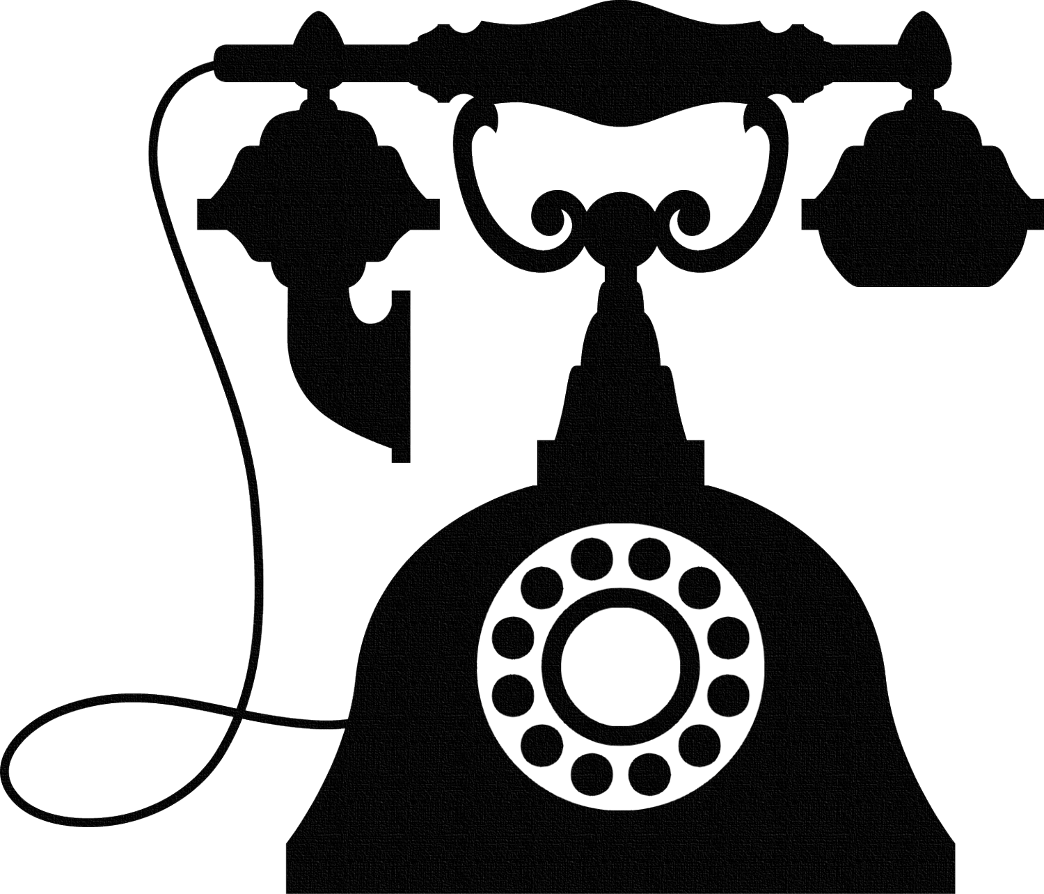 Vintage wall sticker phone. Telephone clipart old fashioned telephone