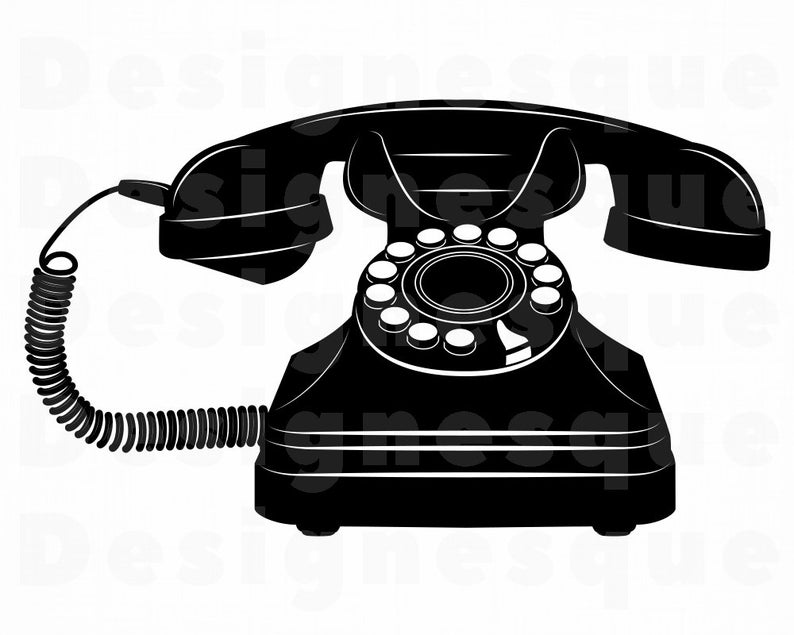 Phone clipart vintage phone. Svg files for cricut