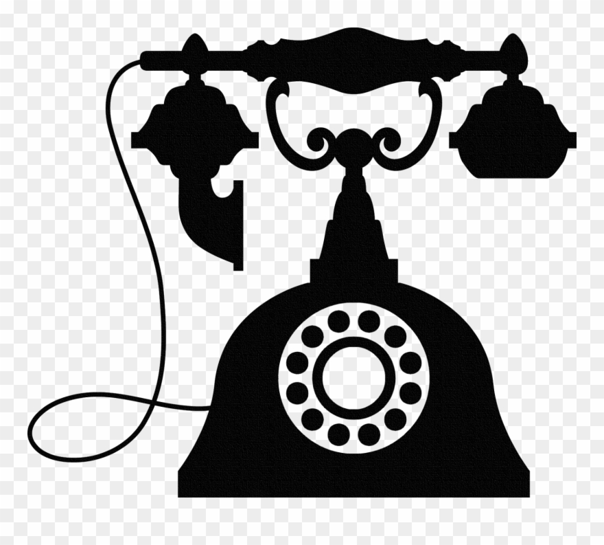 Telephone clipart antique telephone. Vintage wall sticker old