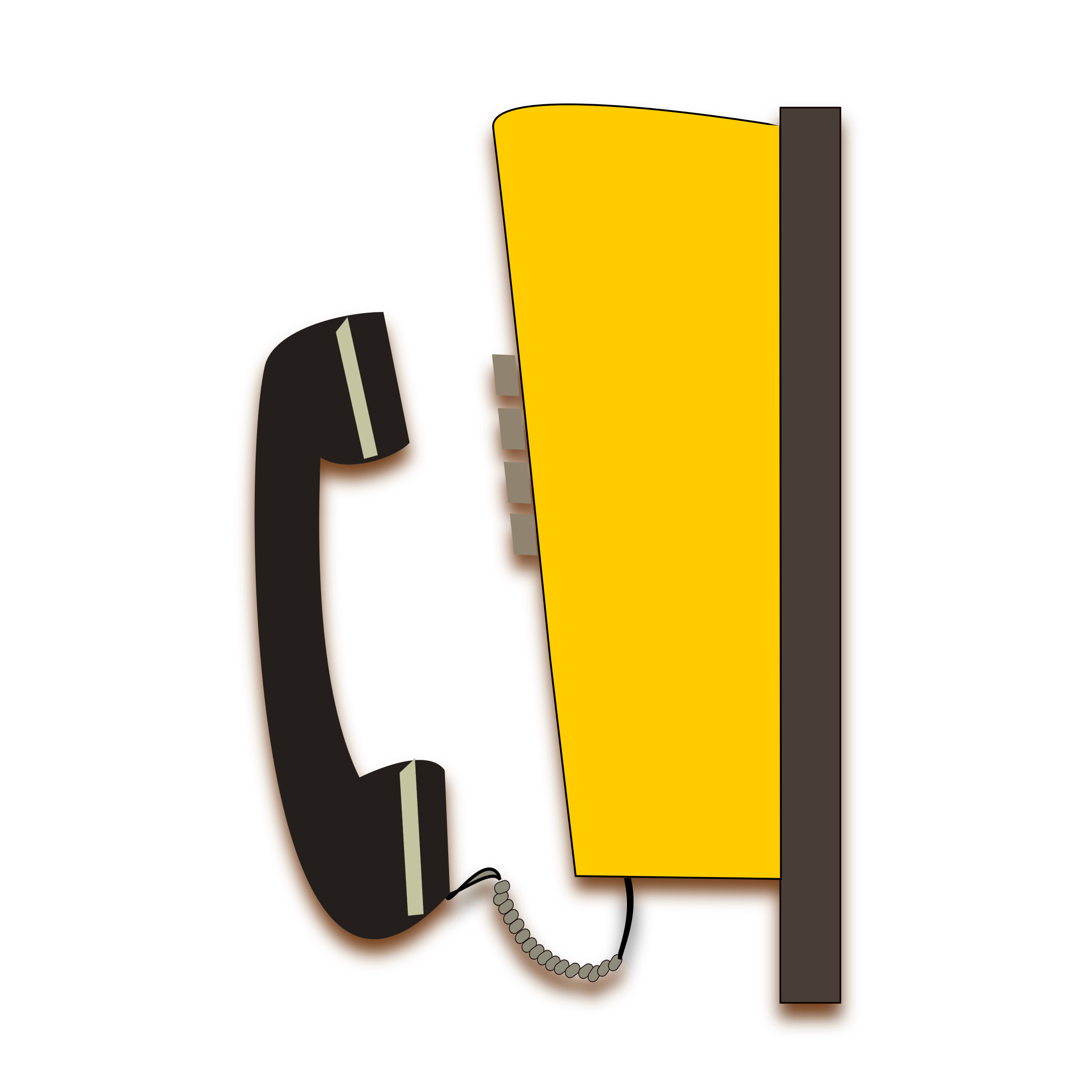 Clipart telephone yellow telephone. Public big image png