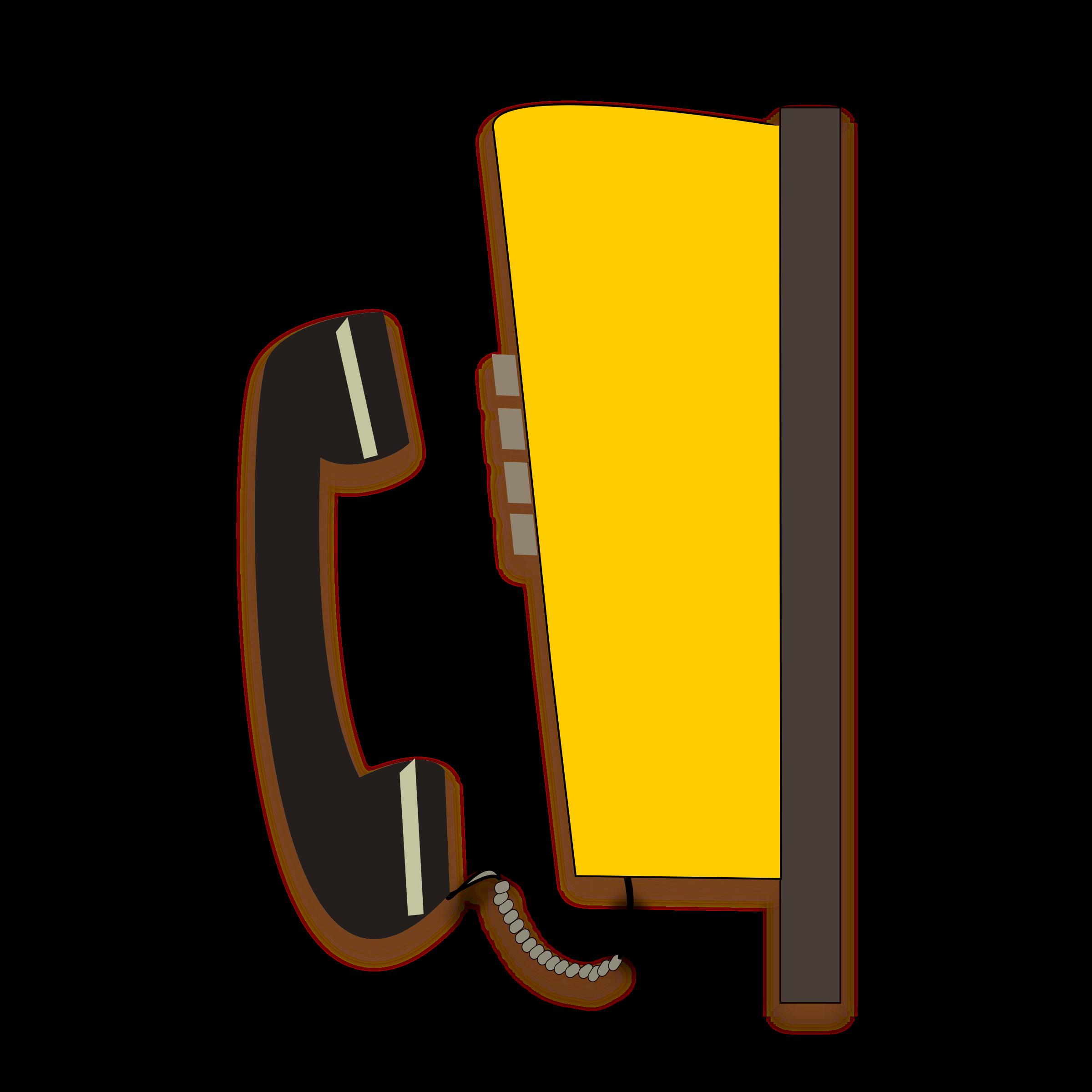 Phone clipart yellow. Public telephone big image