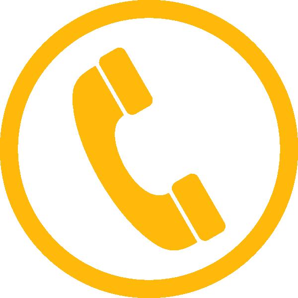 Clipart phone yellow. Orange clip art at