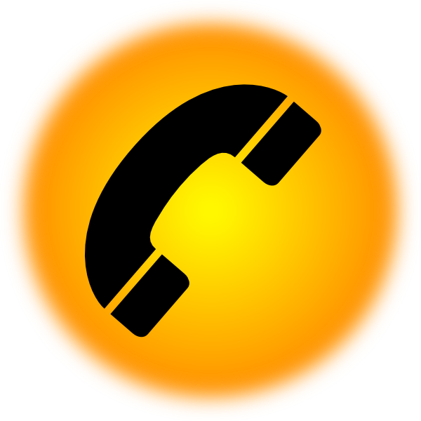 Telephone clipart phone orange. Icon clip art at