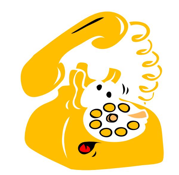 Phone clipart yellow. Clip art at clker