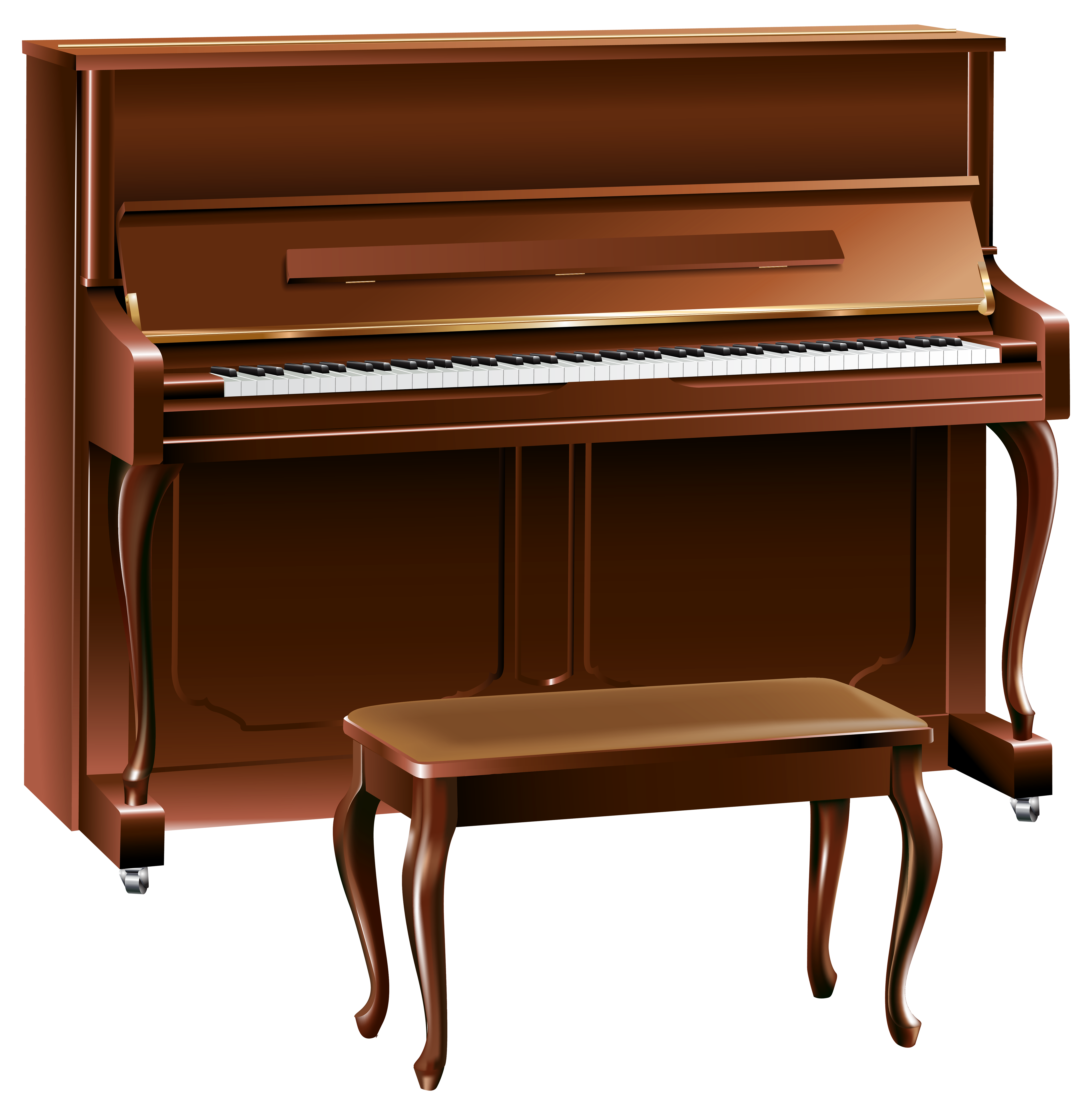 Brown png best web. Piano clipart high quality