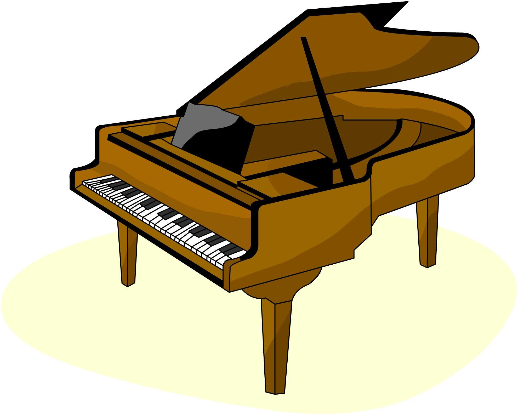 Free pictures clipartix. Piano clipart
