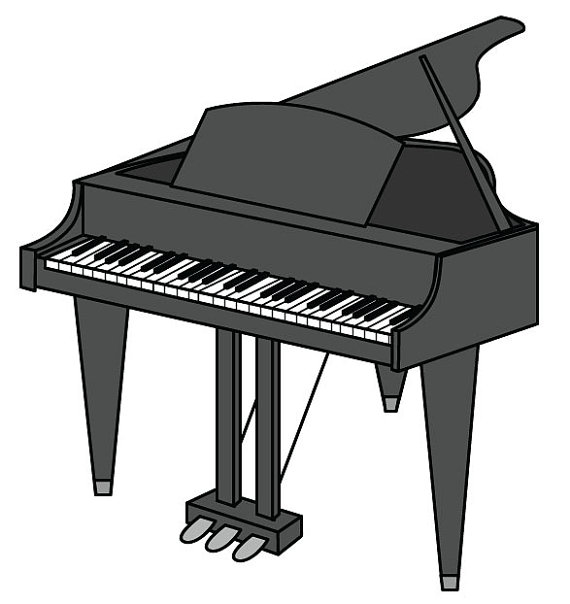 Back clipart piano. Clip art vector graphic