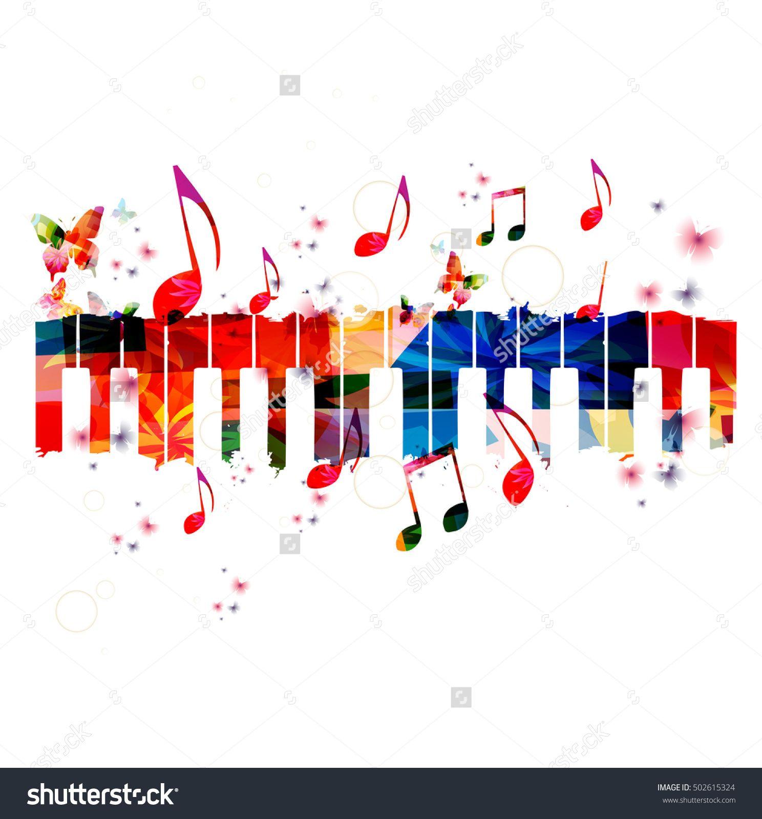 Creative style template vector. Music clipart music festival