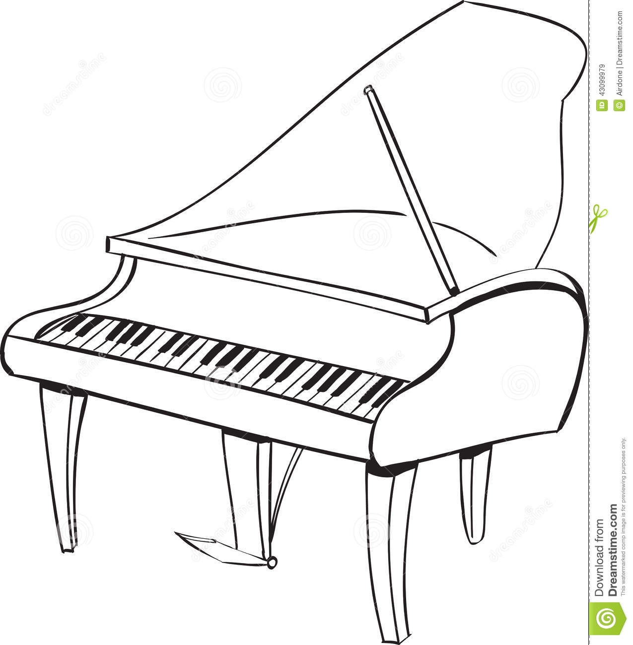 Piano clipart black and white. Station