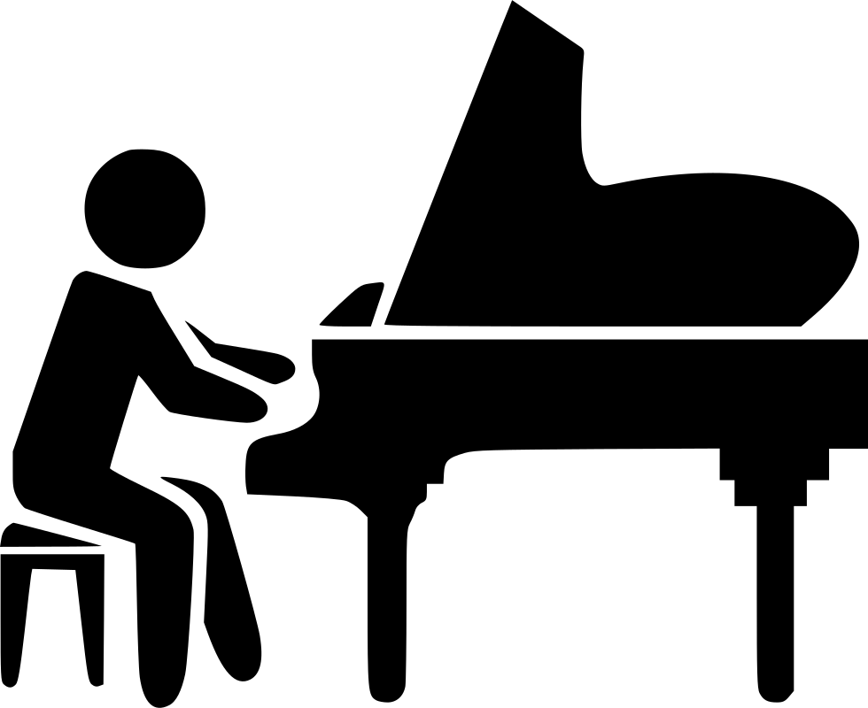 Piano clipart black object. Svg png icon free