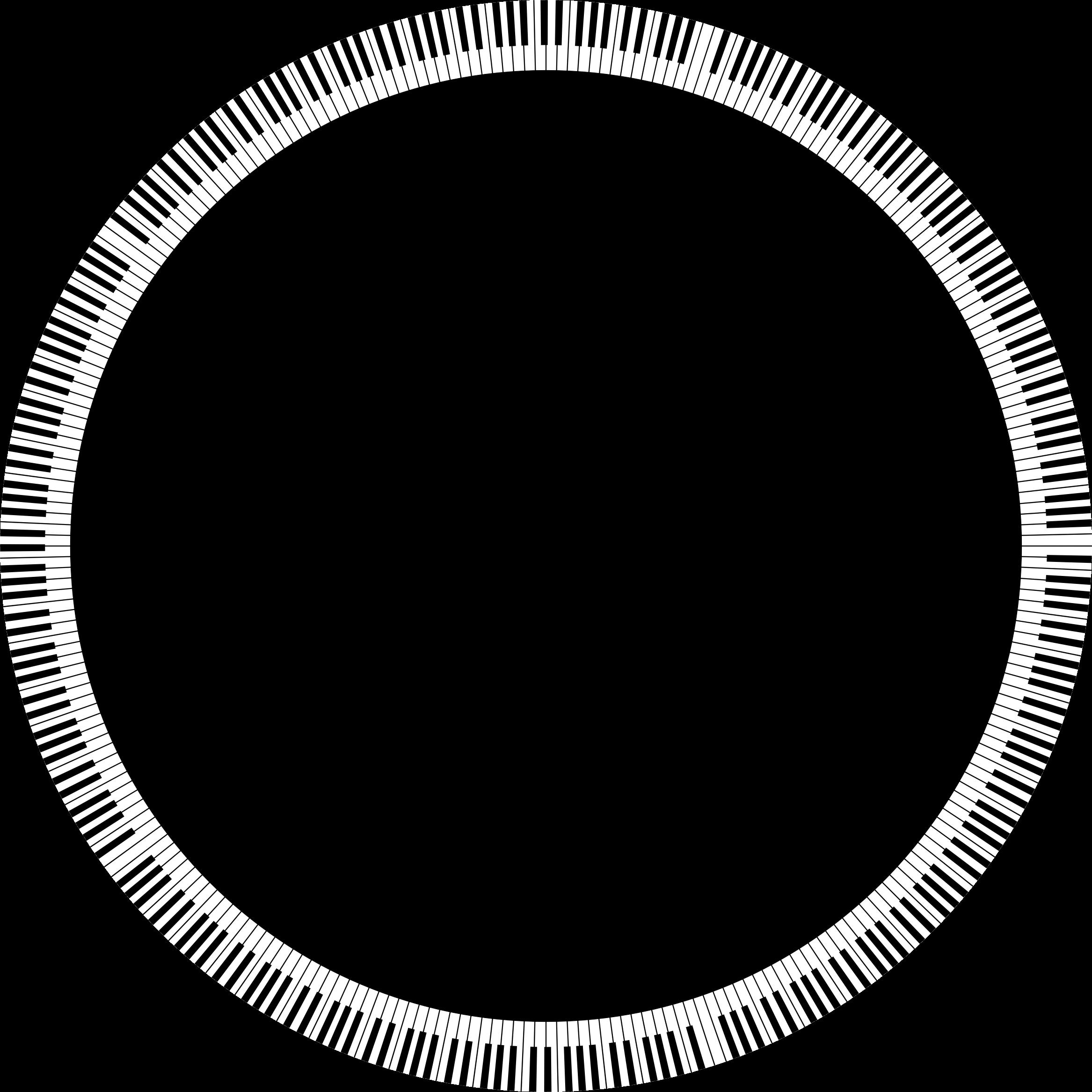 Piano clipart border. Keys circle big image