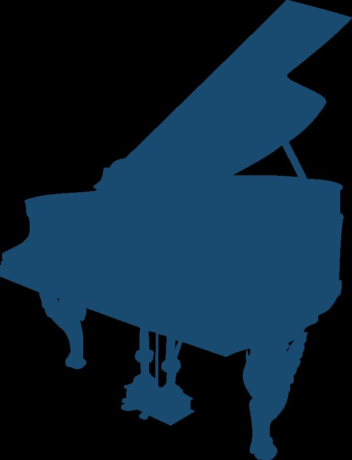 Swirly Piano Notes Clipart