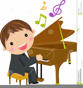 Piano clipart boy. Free child playing images