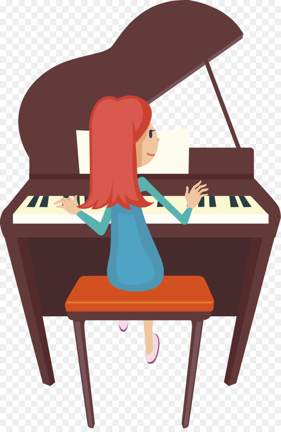 Cartoon table keyboard transparent. Piano clipart piano recital