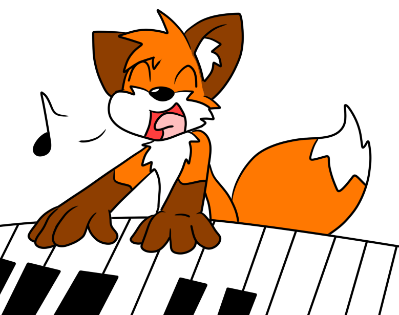 Fox by loofytehfox on. Piano clipart organ