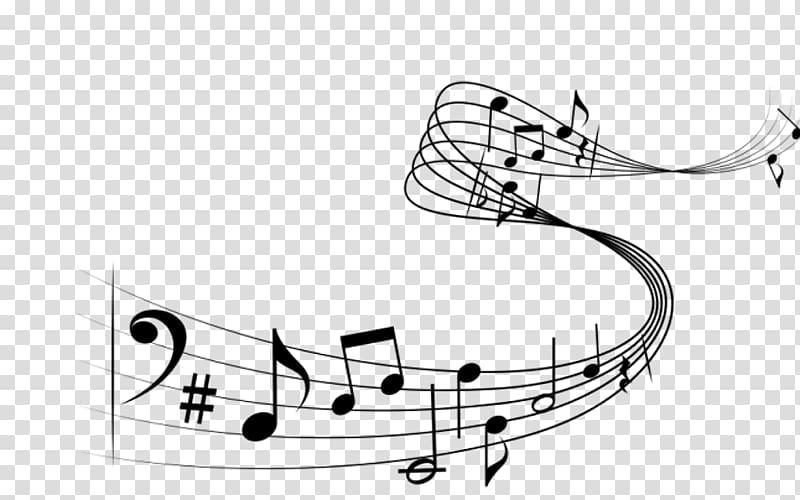Musical staff transparent . Clipart piano choir note