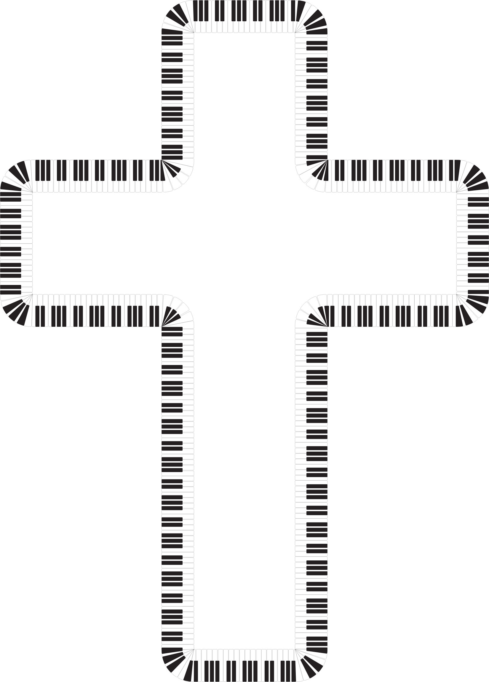 Piano clipart church. Cross keys big image