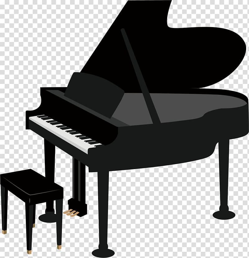 Grand drawing transparent png. Clipart piano clear background