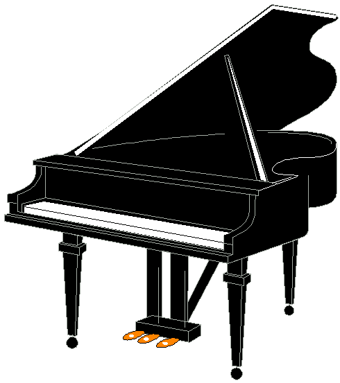 Piano clipart comic. Free cartoon pictures download