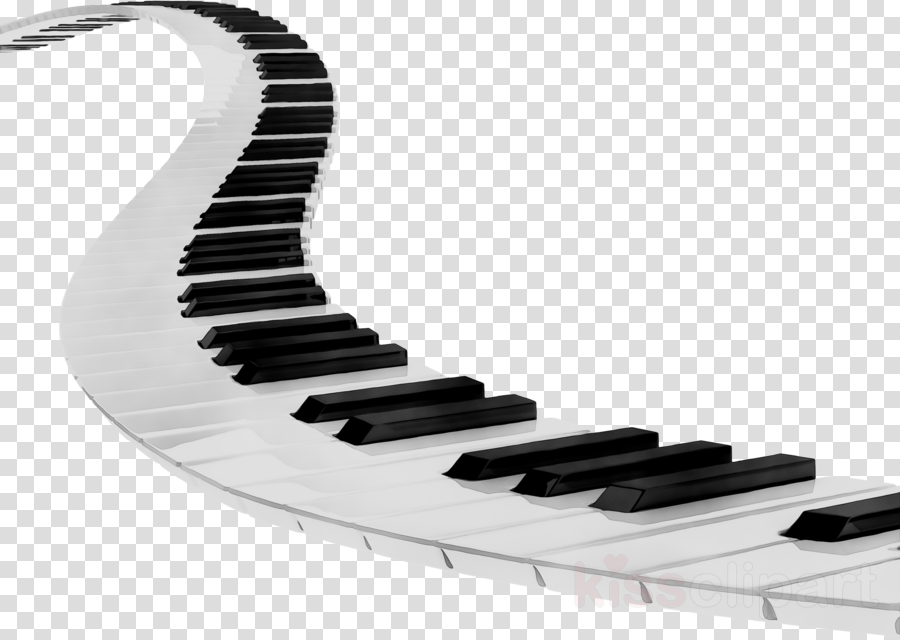 Cartoon keyboard music transparent. Piano clipart curved