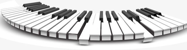 Piano clipart curved. Keyboard ar png images