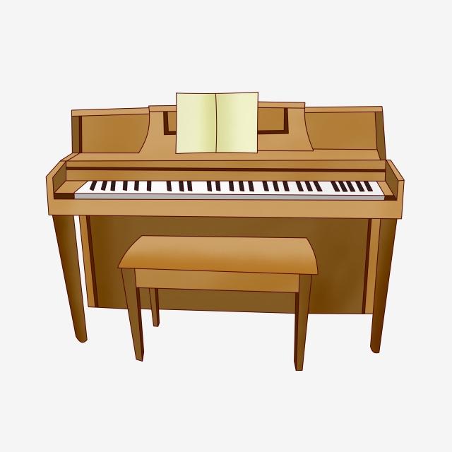 Simple cartoon illustration . Clipart piano easy