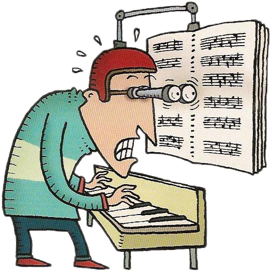 Teaching sight reading to. Clipart piano easy