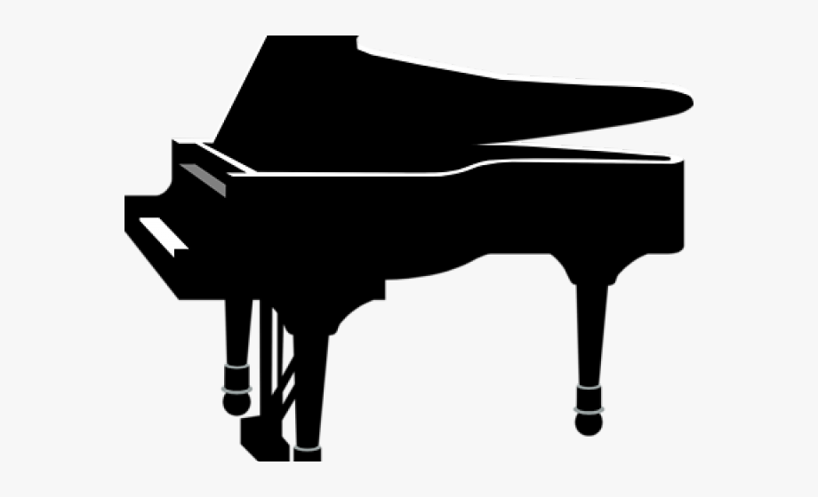Clipart piano easy. Keyboard black and white