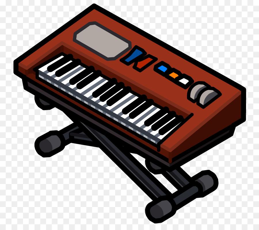 Cartoon keyboard technology product. Piano clipart digital piano