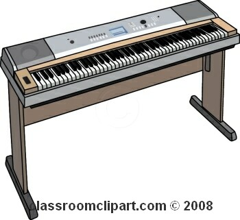 Piano clipart digital piano. Electric keyboard clip art