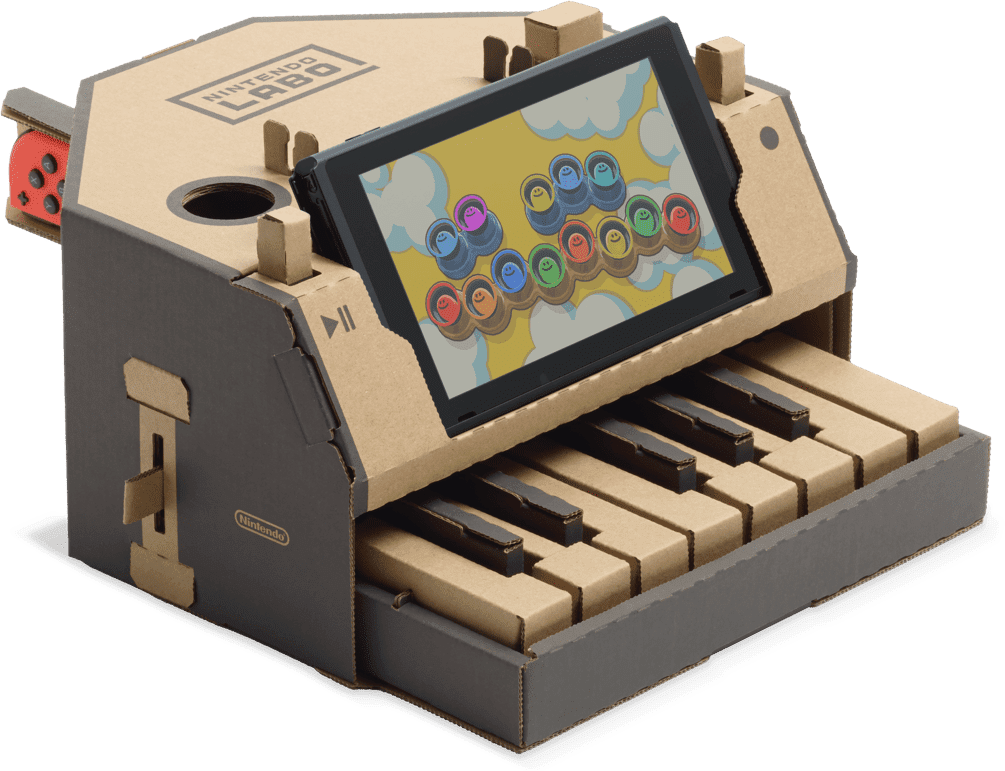 Nintendo labo for the. Piano clipart green toy