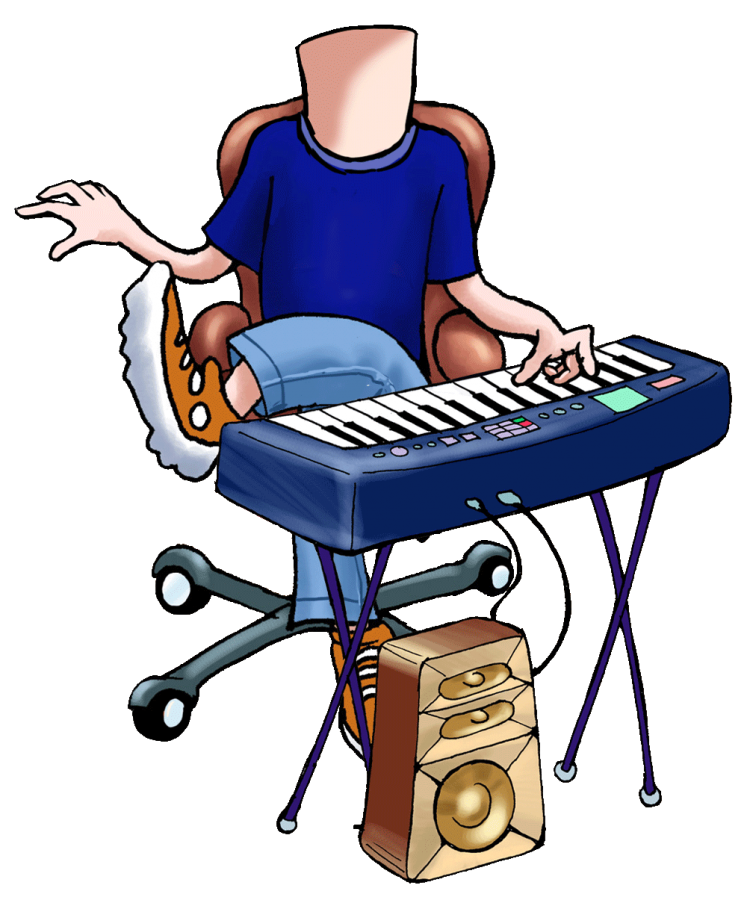 Order a caricature from. Clipart piano electronic toy