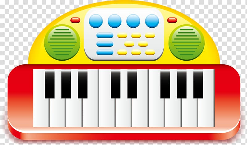 Electric keyboard musical . Clipart piano electronic toy