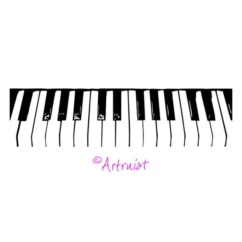 Piano keys svg clip. Keyboard clipart item