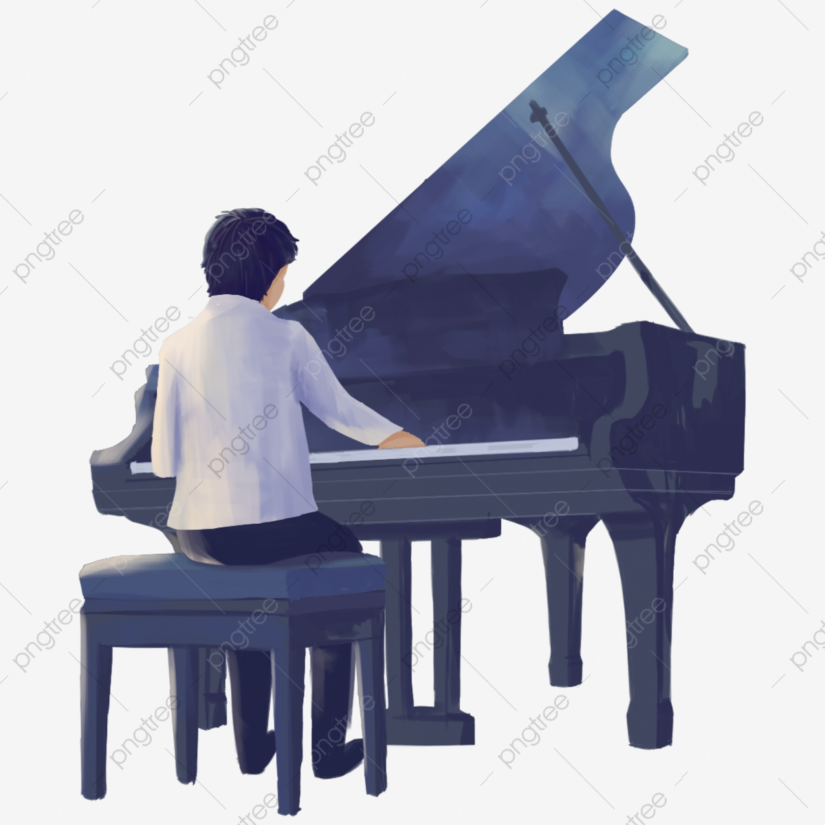 Black and white png. Piano clipart file