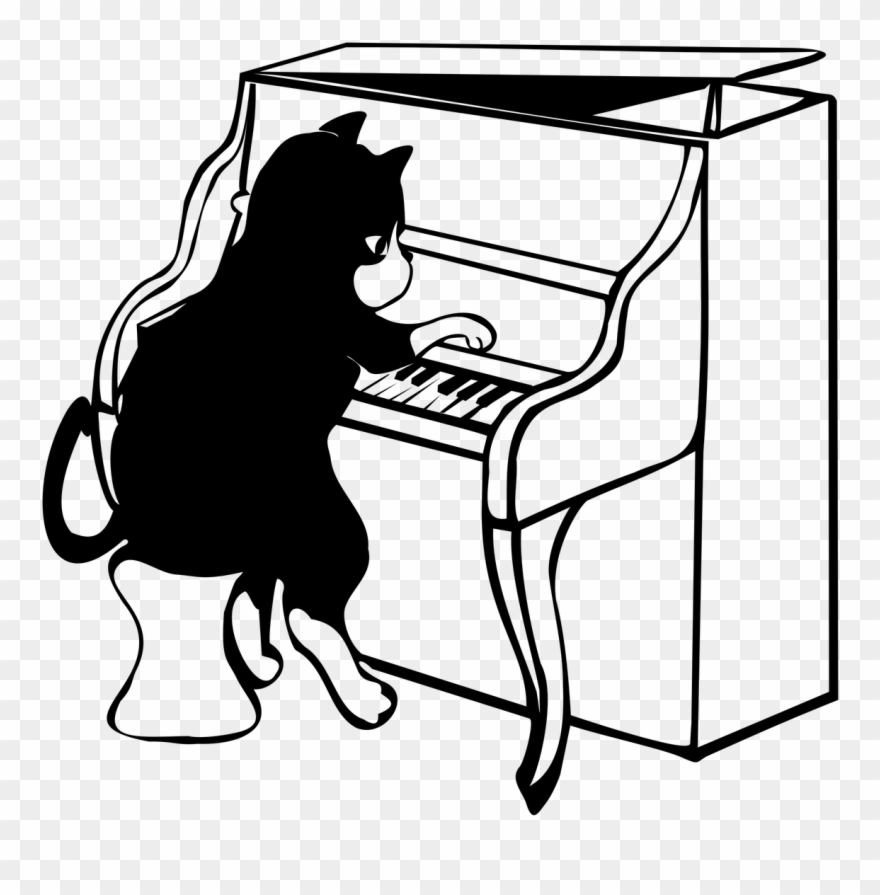 Piano clipart flute. Jazz cat png download